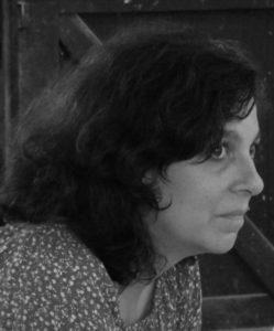 Portrait en noir et blanc de Céline Verdier